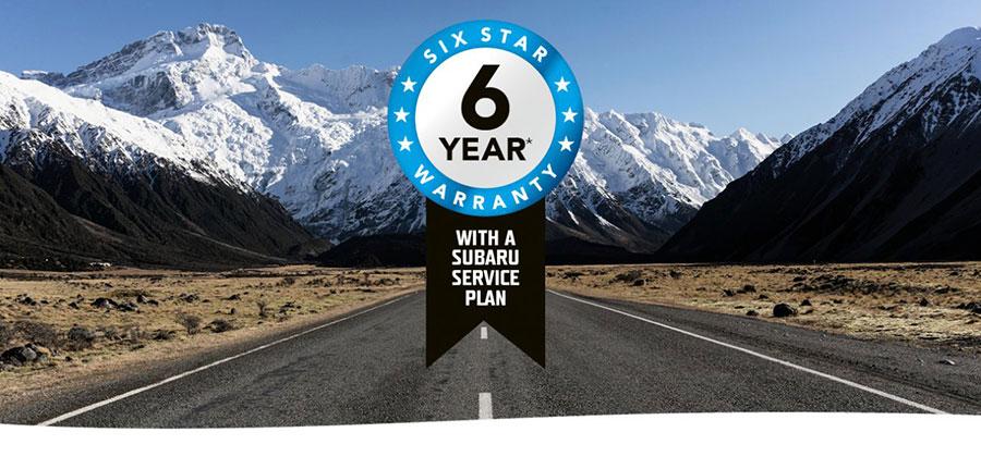 Subaru Six Star Six Year Warranty