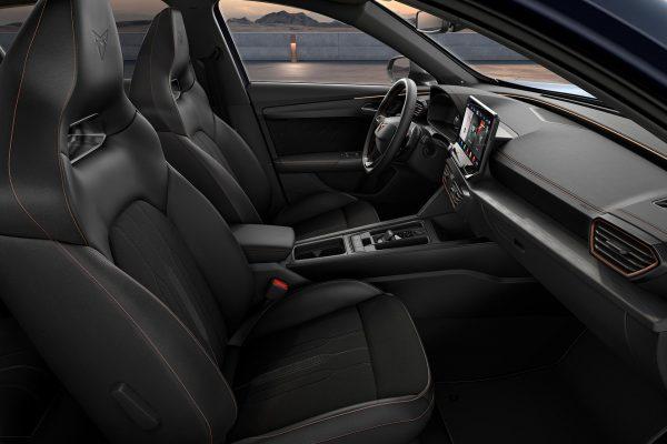 New CUPRA Formentor nappa genuine black leather bucket seats